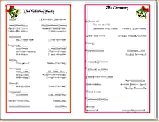 Church Program Template Free Church Program Template Cyberuse - sample program templates