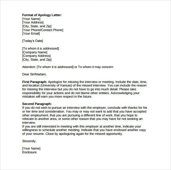 Sample Apology Sample Apology Letter Semi Formal Letters - letter of apology to your boss