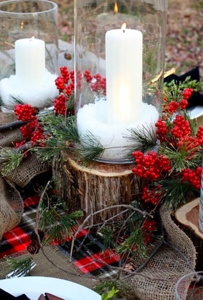 24 Ideas Of Cozy And Fancy Rustic Winter Wedding ❤ rustic winter wedding white candles decorationlove #weddingforward #wedding #bride