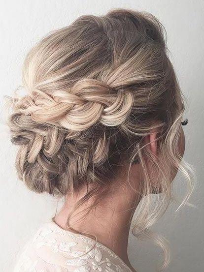 Delightful braided blonde hairstyle