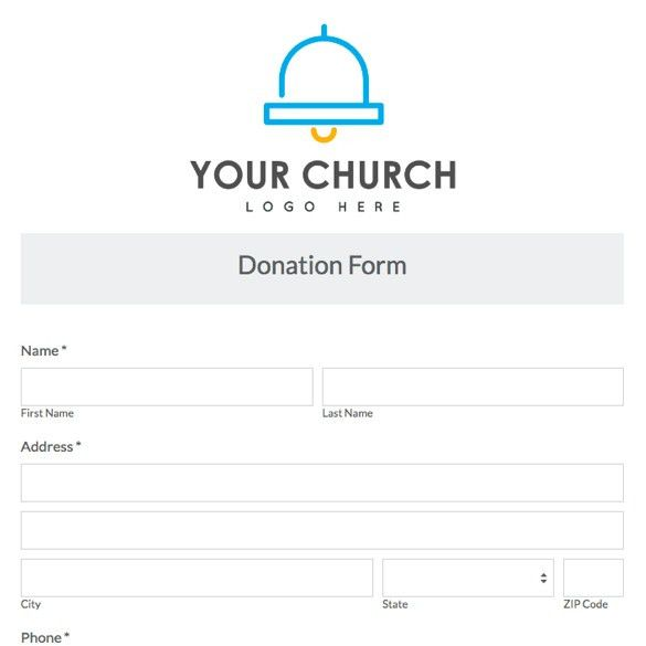 Church U0026 Ministry Forms | Form Templates | Formstack  Donation Forms Templates