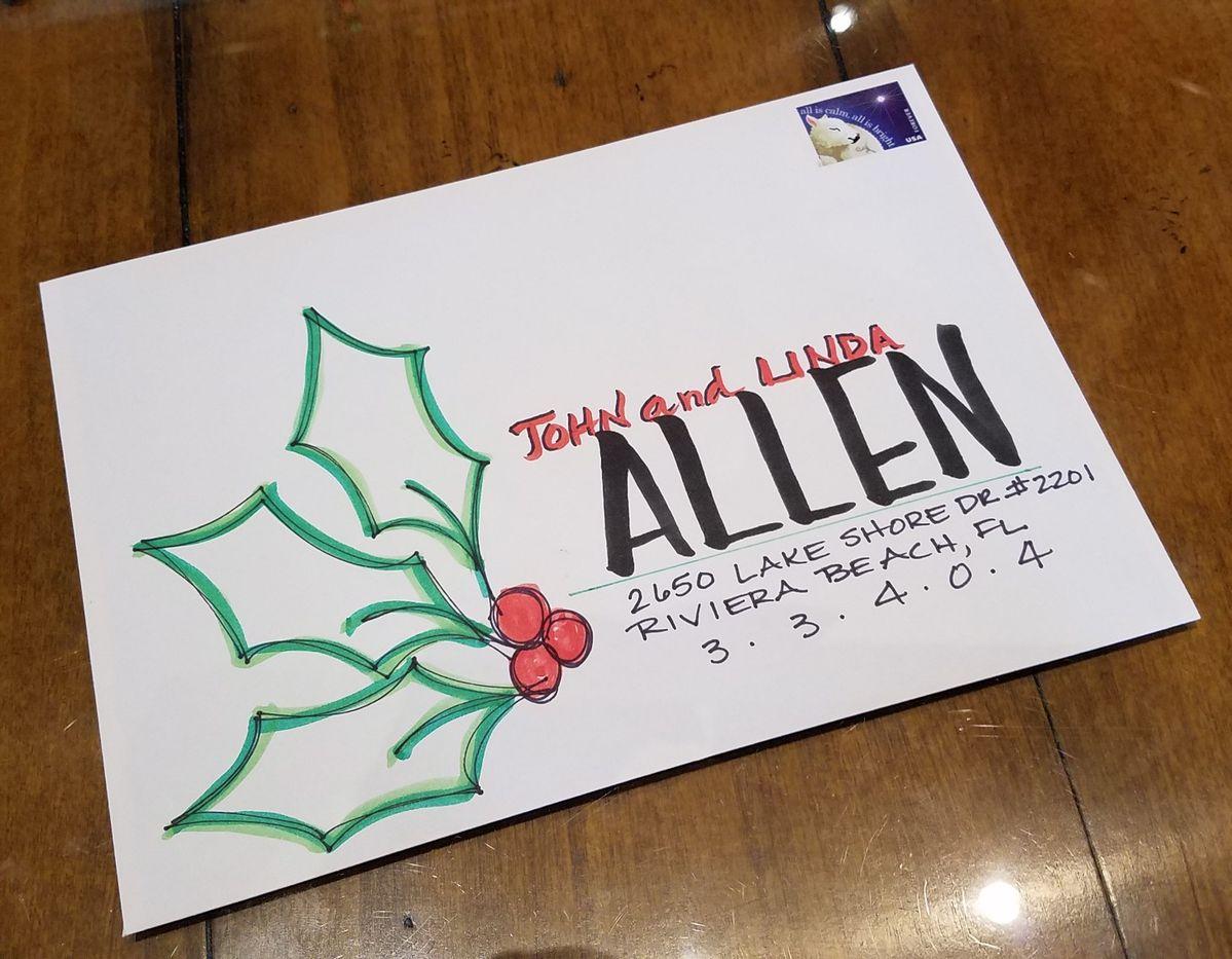 christmas envelope addressing  envelope addressing