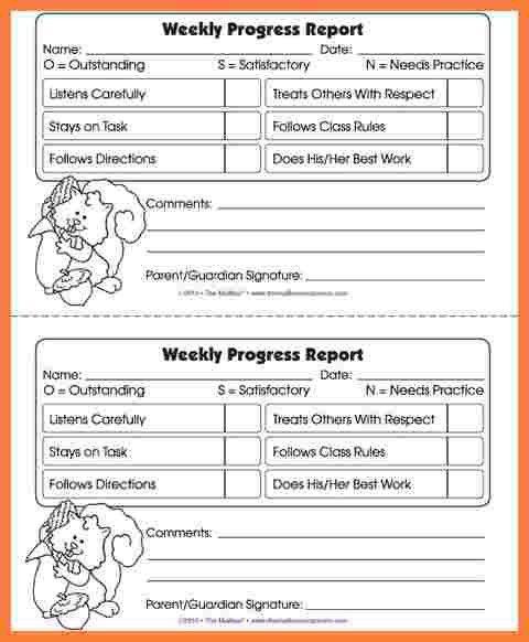 student progress report template node2002cvresumepaasprovidercom