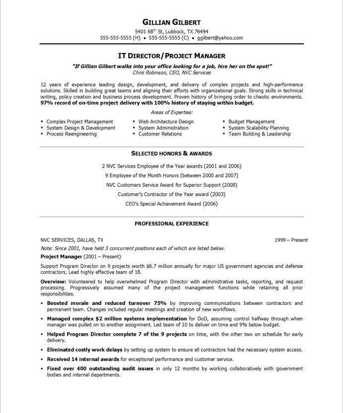 It Director Resume Sample It Director Sample Resume It Resume - director of it resume