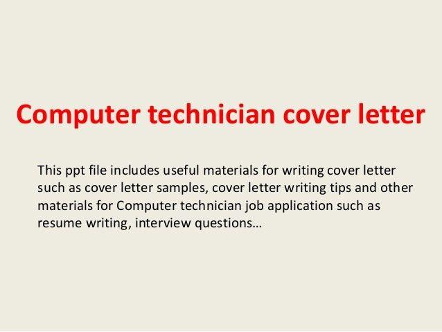 Avionics Technician Cover Letter
