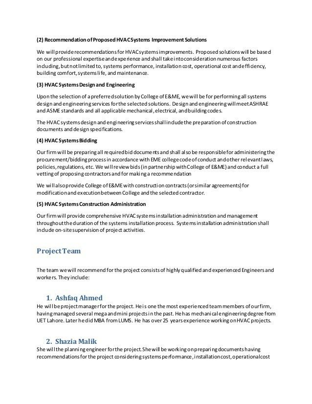Hvac Proposal Template Elite Software Proposal Maker, Free Design - sample proposal contract
