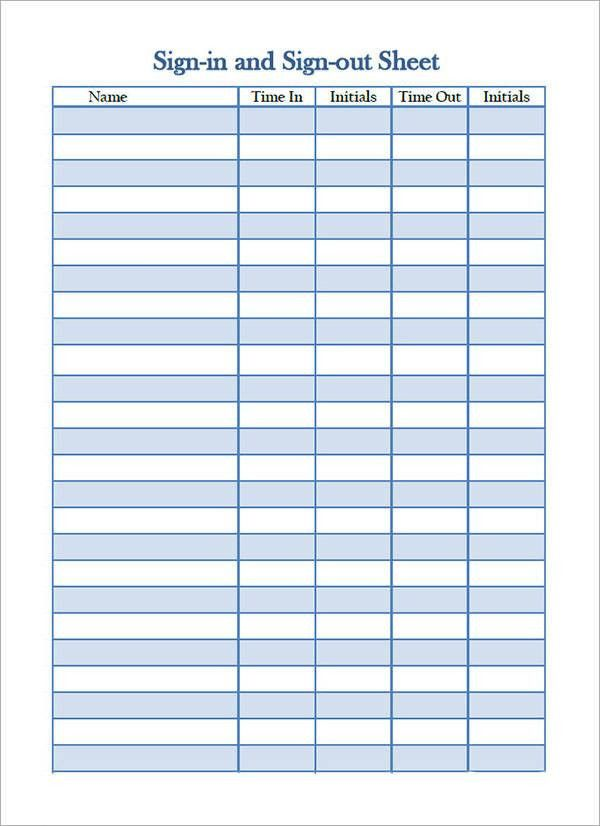 Nice Dr Office Sign In Sheet Template Images Gallery