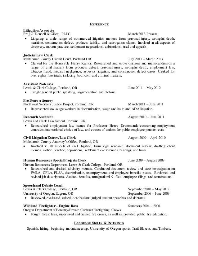 Prosecuting Attorney Sample Resume Prosecutor Example
