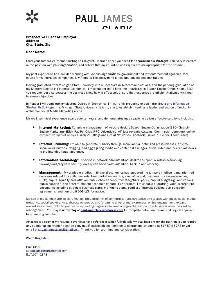 Financial economist cover letter
