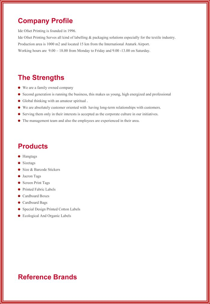 Business Profiles Samples Sample Business Profile 5 Documents In - business profile template