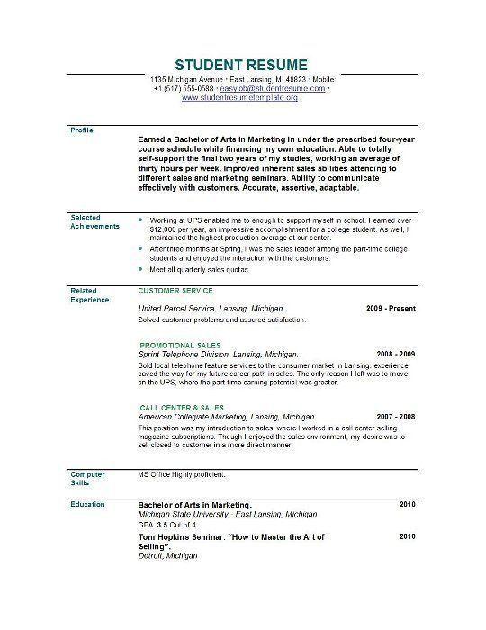 New Graduate Resume Template Resume Template For Recent College - resume template for recent college graduate