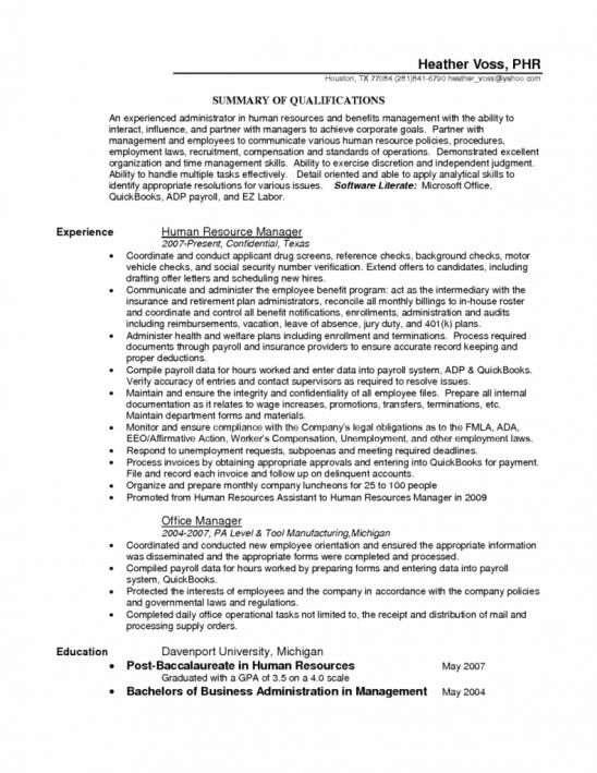 Payroll And Benefits Administrator Sample Resume  NodeResume