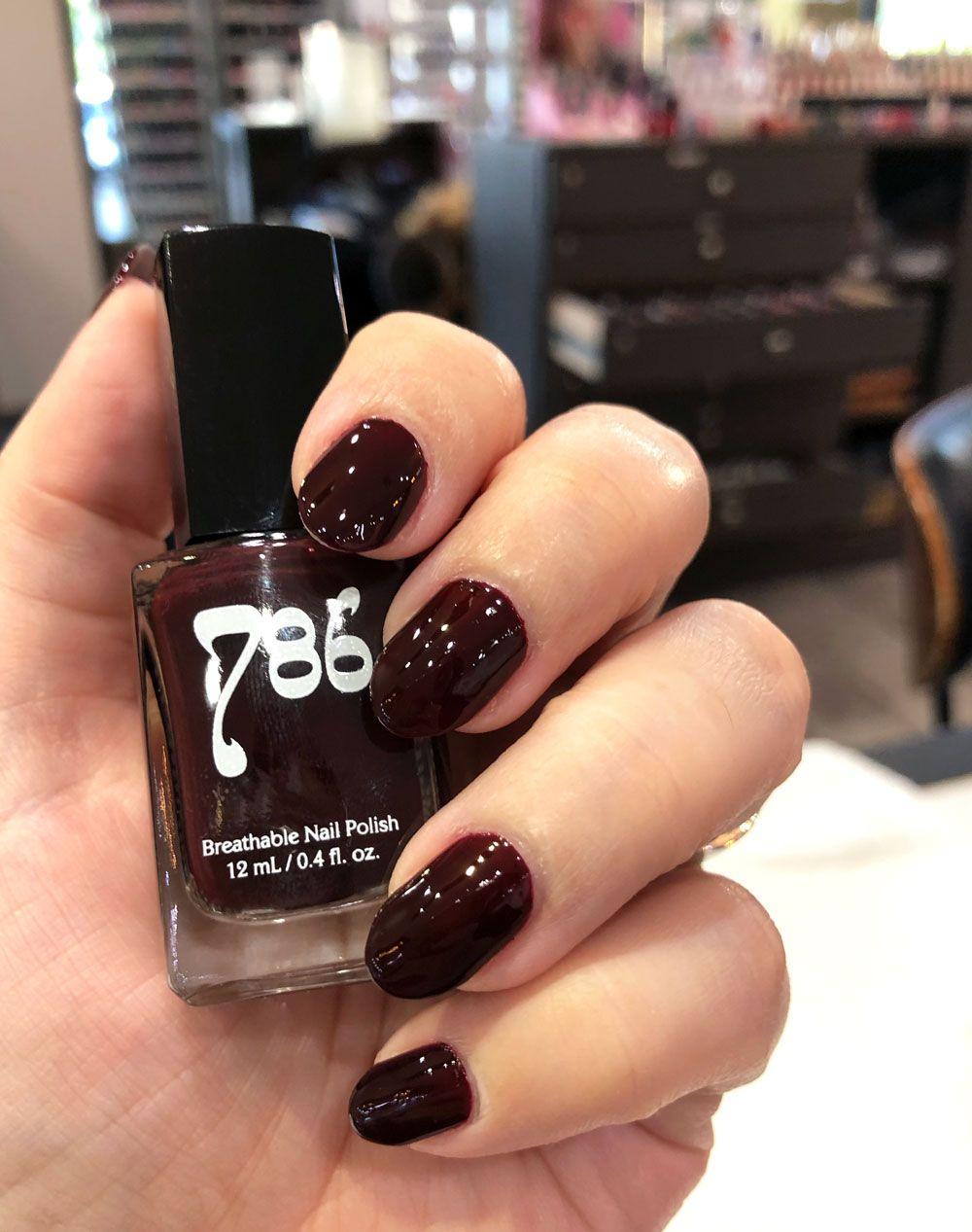AD 786 halal vegan cruelty free nail polish – dark burgundy Istanbul #nails #halal #nailpolish #crueltyfree