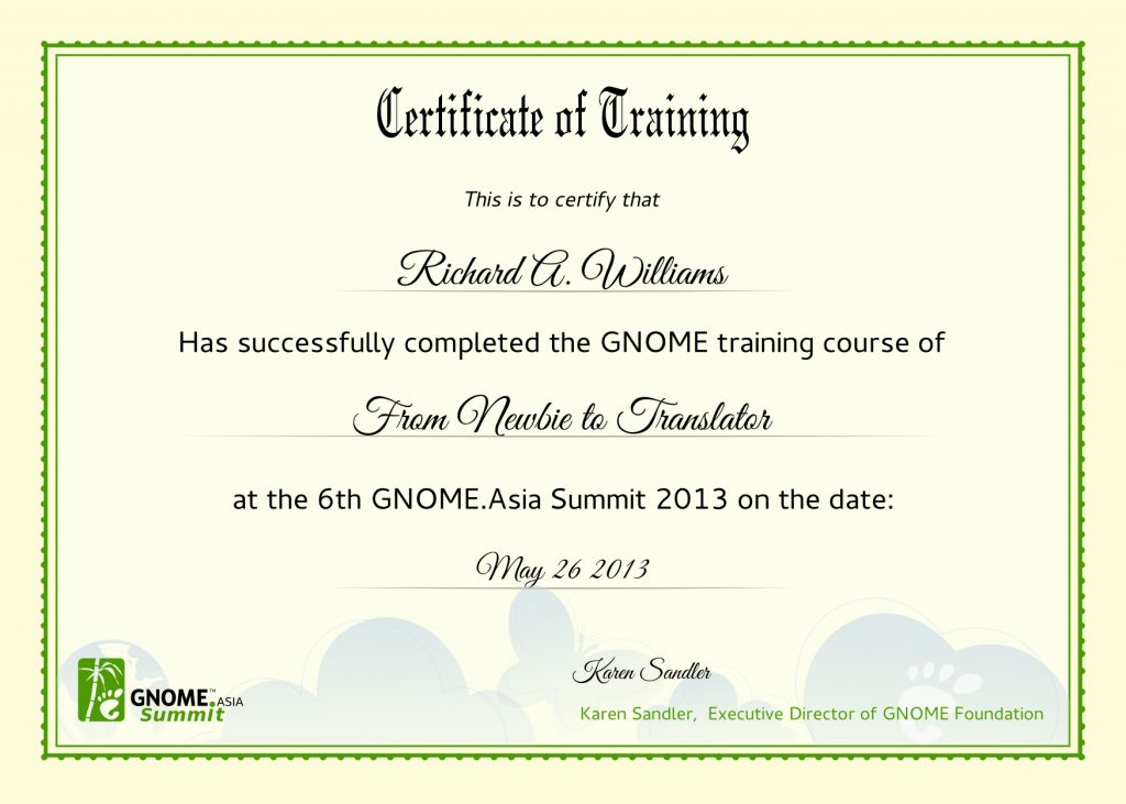 Training Certificate Templates 6 Free Training Certificate - free training certificates