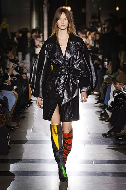 Inspiring Trends From LFW AW20. Kinky-lite outerwear became a recurring theme, with shiny vinyl coats cropping up at Preen and Halpern, or at Toga as a hint of vinyl lining on otherwise unassuming utilitarian-wear.