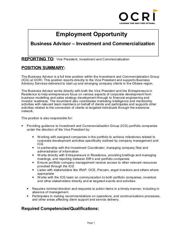 job description for financial advisor financial planner job