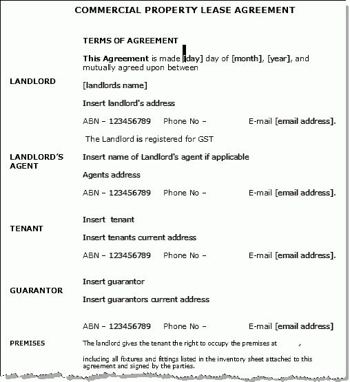Lease Contract Format Lease Agreement Create A Free Rental - sample lease agreement form