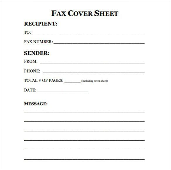 fax cover sheet template word | lukex.co