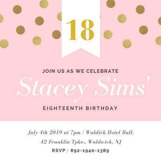 Birthday Invitation Template Best 25 Birthday Invitation - free 18th birthday invitation templates