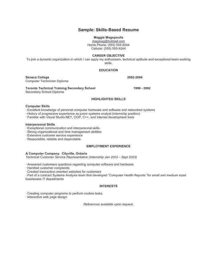 Sample Skill Based Resume Nonsensical Communication Skills Resume - skills for resume examples for customer service