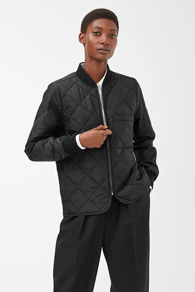 Quilted Insulator Jacket - Black - Jackets & Coats - ARKET GB