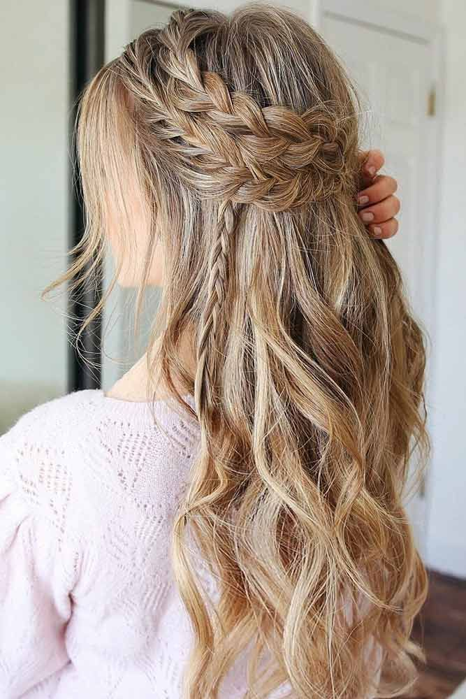 """A Boho Festive Look: Headband Double Braid and Waves � A headband braid, also known as a crown or a halo braid, is a cute half updo or updo hairstyle with a braid around a head. And as for the type of a braid involved, any braid would do here. Make a choice based on your taste. � Check out the gallery!<p><a href=""""http://www.homeinteriordesign.org/2018/02/short-guide-to-interior-decoration.html"""">Short guide to interior decoration</a></p>"""