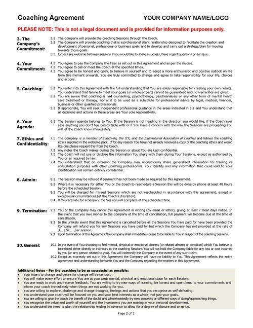 Coaching Contract Templates 7+ dj contract template coaching - free business contract templates