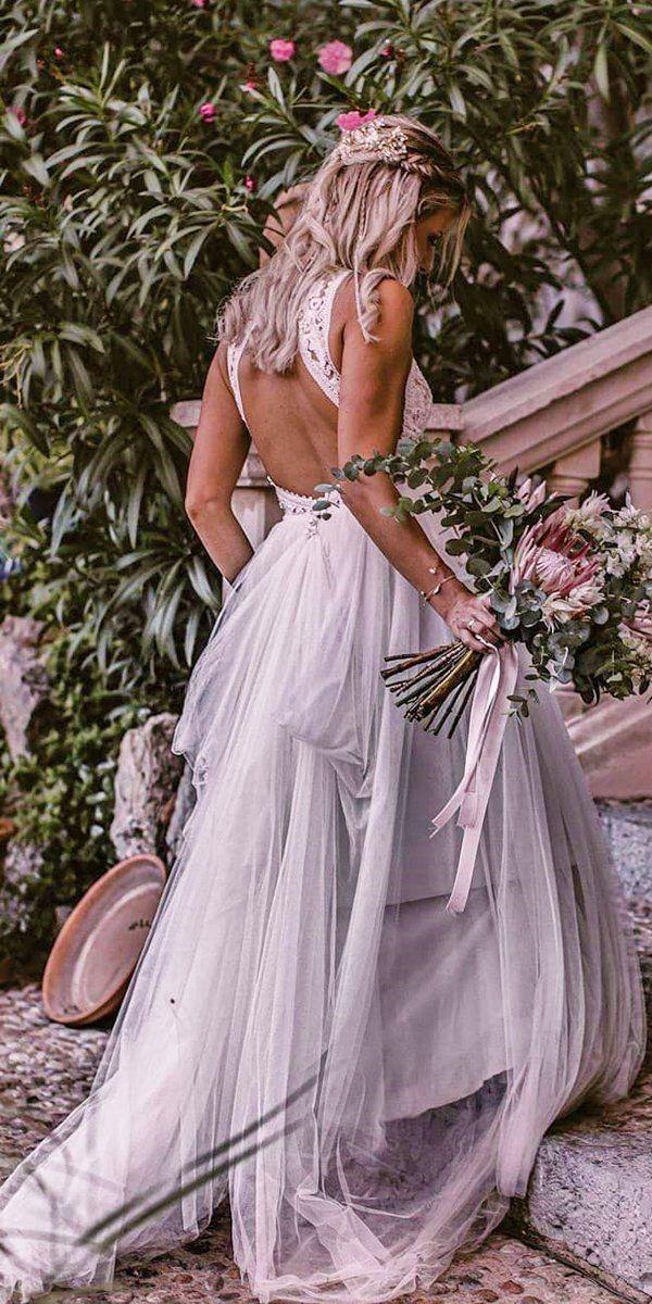 27 Best Wedding Dresses For Celebration ❤ best wedding dresses a line open back lace top boho pronovias #weddingforward #wedding #bride