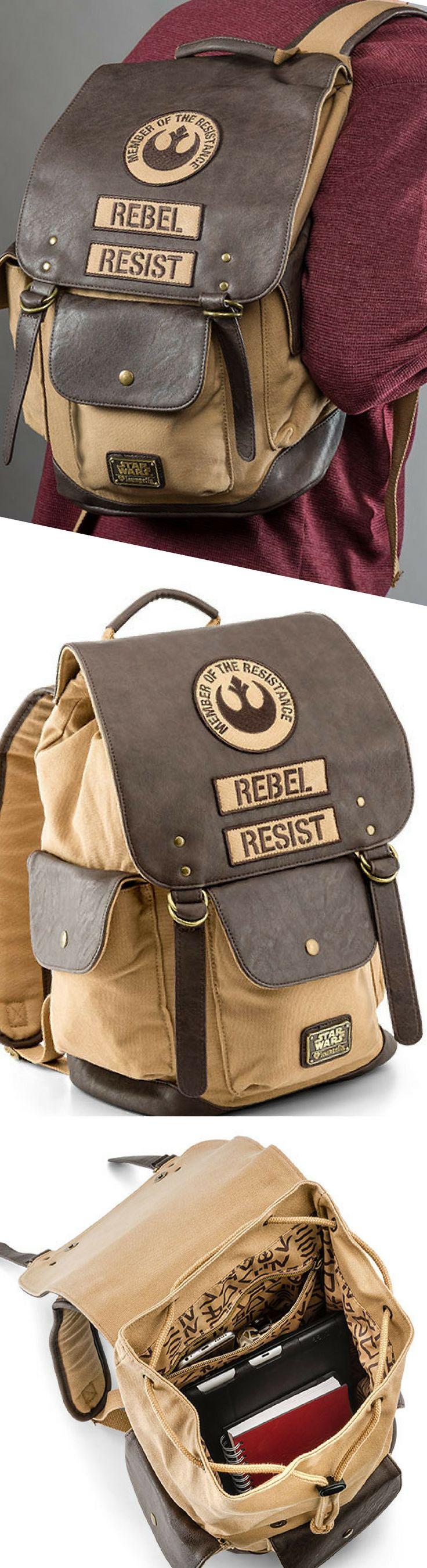 Star Wars Rebel Leather Backpack - Star Wars Gift #starwars #backpacks #rebel