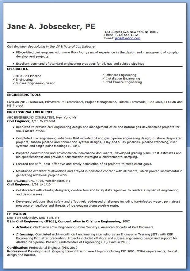 Civil Engineering Resumes Civil Engineering Resume Sample Resume