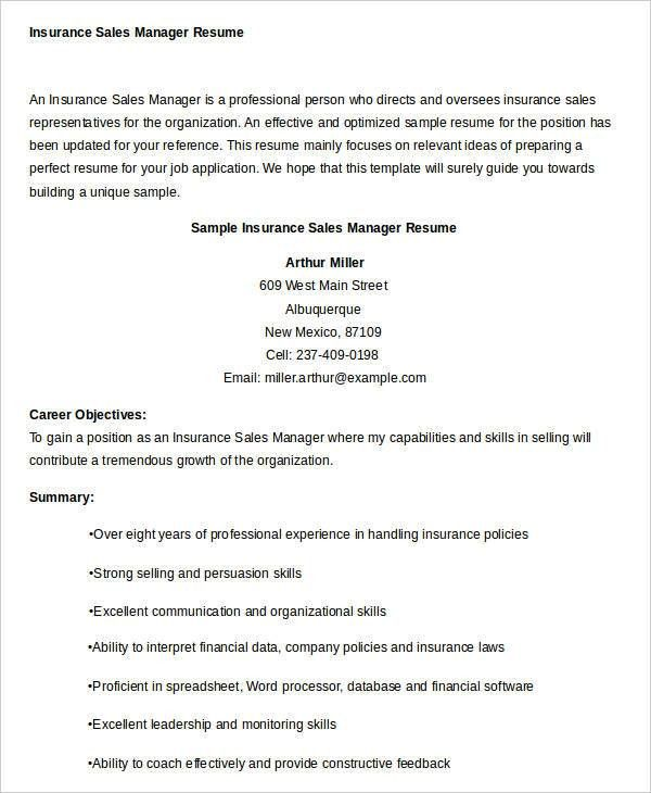 sample insurance sales resume agent resume example insurance