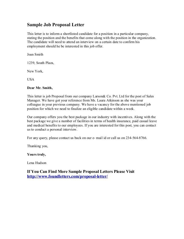 Employee Proposal Letter Employment Proposal Letter Template - proposal letter template