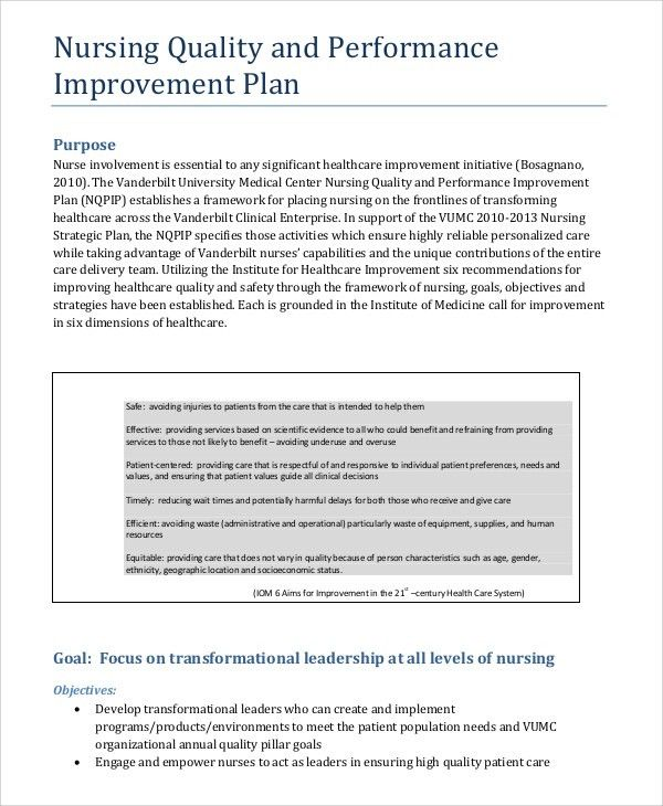 Sample Improvement Plan Sample Quality Improvement Plan Summer - performance plan