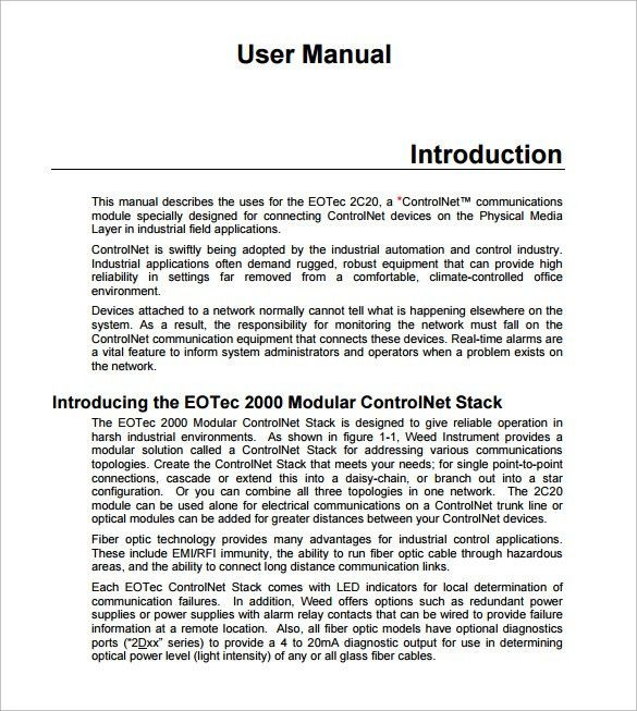 ... Writing A Manual Template 8instruction Manual Templates Free   Procedure  Manual Template Free ...  Free Office Procedures Manual Template