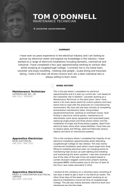 Unforgettable maintenance technician resume examples to