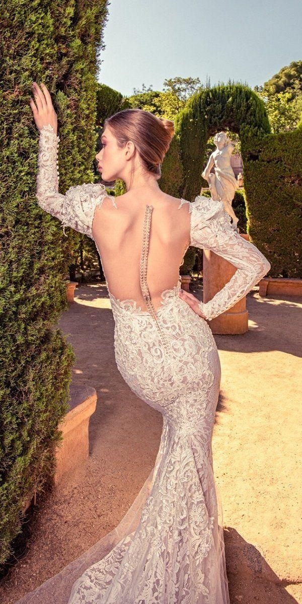 27 Stunning Trend: Tattoo Effect Wedding Dresses ❤ tattoo effect wedding dresses mermaid with long sleeves illusion back julia kontogruni #weddingforward #wedding #bride