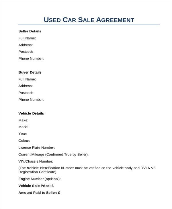 Auto Sales Contract  BesikEightyCo