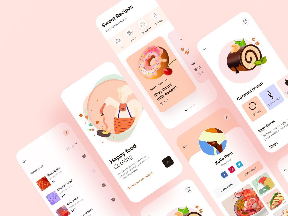 Recipe App UI by Zuairia Zaman