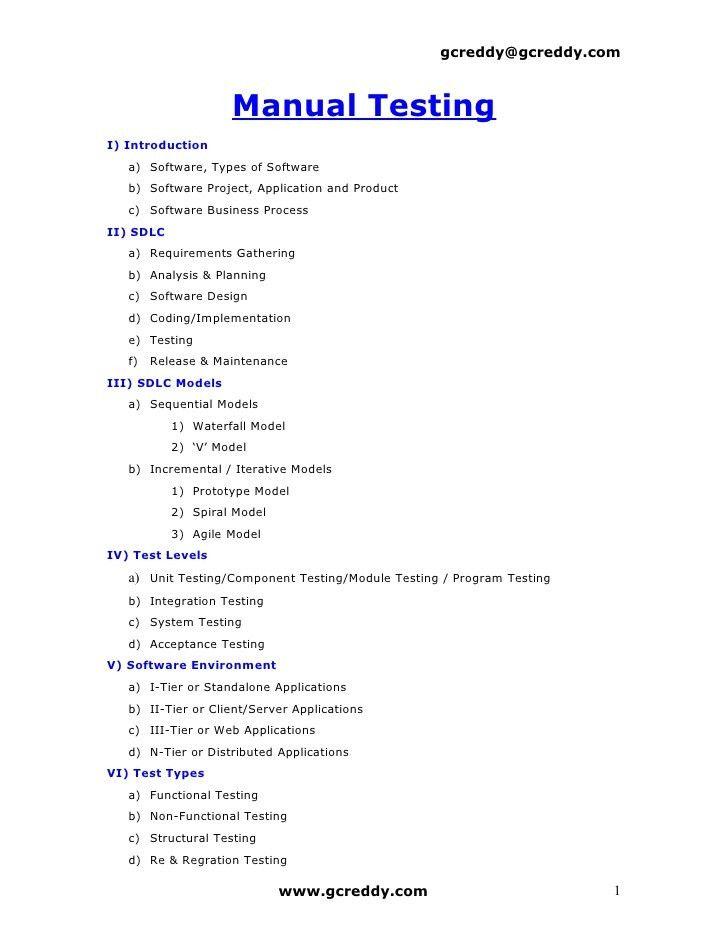 manual testing resume format manual testing resume format manual