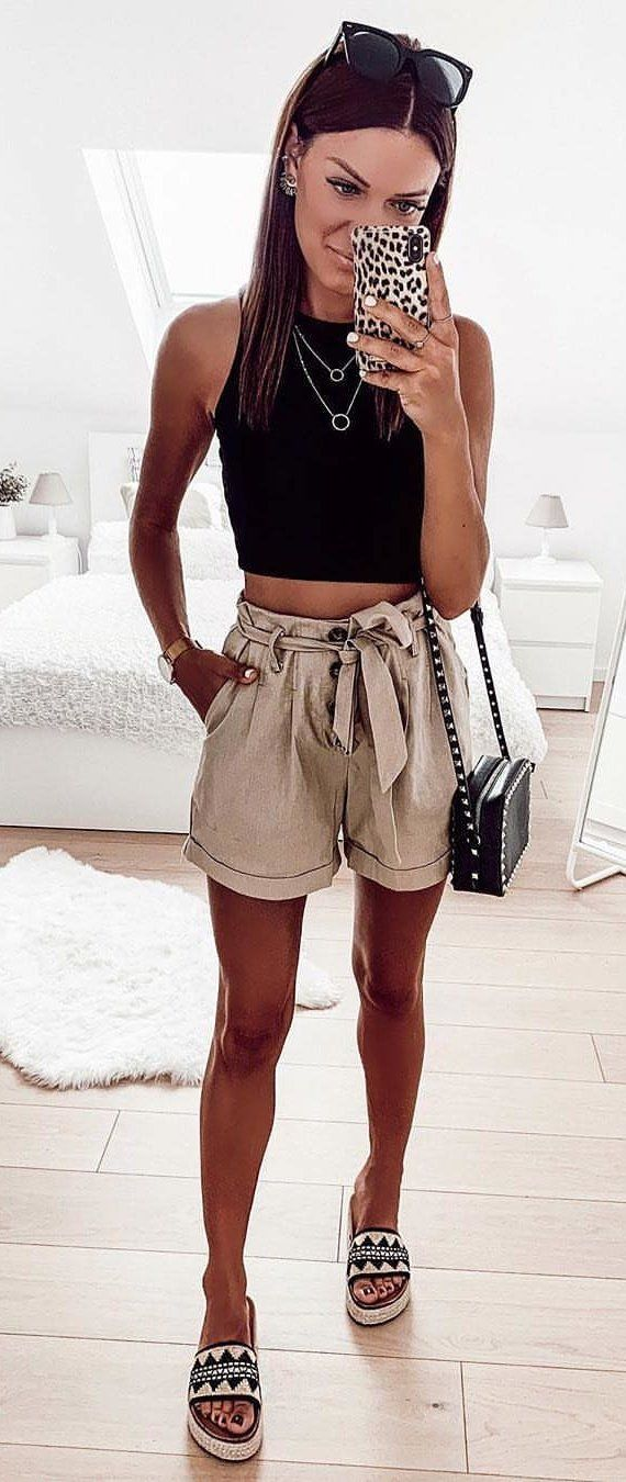 black tank top #summer #outfits