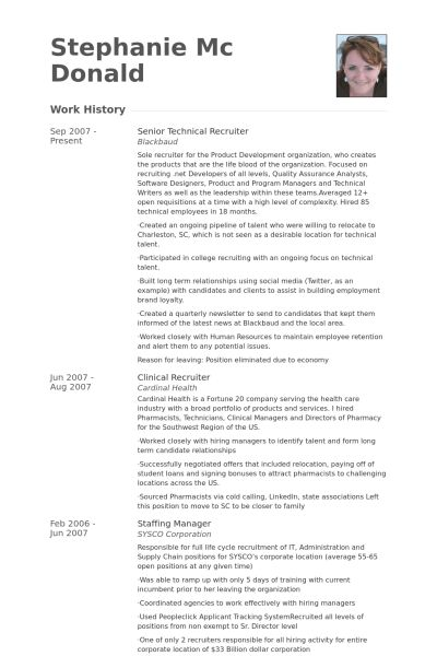 Recruiter Resume Examples - Examples of Resumes