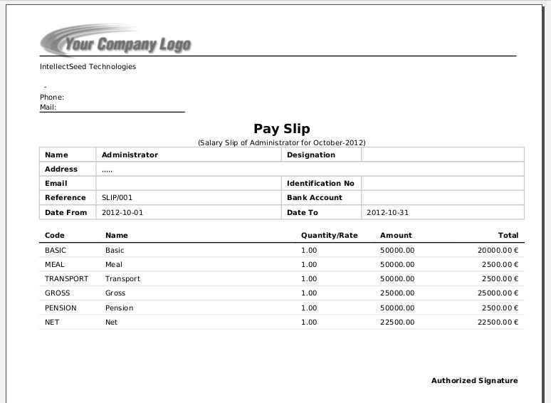 Employees Salary Slip Hr Payroll, Employee Basic Pay Slip Format - payroll slip format
