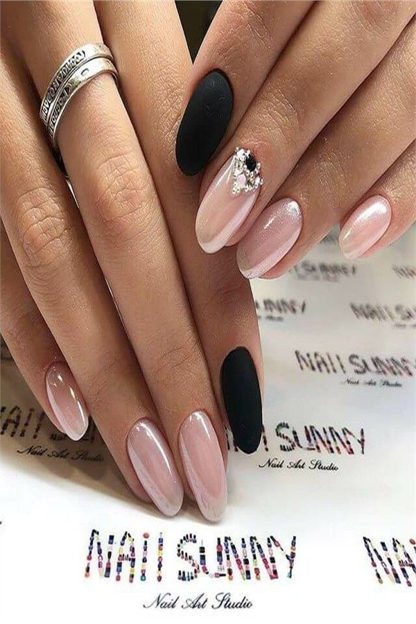 30+ Majestic Nail Art With Diamonds Trends 2019 – Fashonails #nail_art_designs #trendy_nails #diamond_nails #top_nails