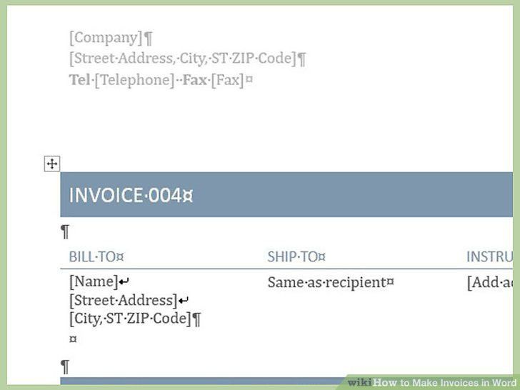 How To Create A Invoice In Word How To Make Invoices In Word 12 - how do i create an invoice