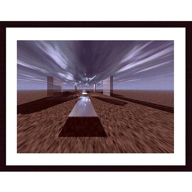Saved by's Pinterest #henge Image created at 246923992056965781 - John K. Nakata 'Space Henge' Wood Framed Print Art