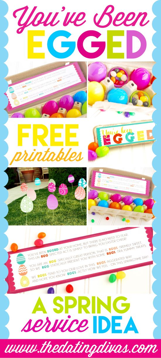 You've Been Egged Service Idea with Free Printables. I have been looking for something like this!