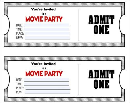 Doc# Movie Ticket Template for Word u2013 6 Movie Ticket Templates - movie ticket template for word