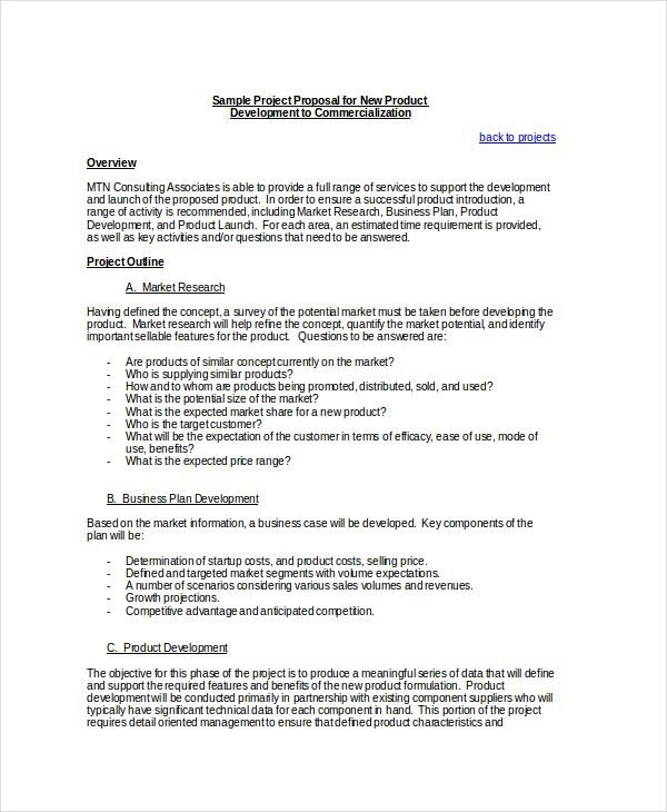 Template For Project Proposal Project Proposal Template 13 Free - price proposal template