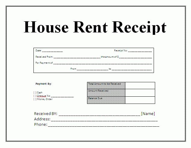 House Rent Bill House Rent Receipt Format Free Word Templates, 10   Home  Rent Receipt Home Design Ideas