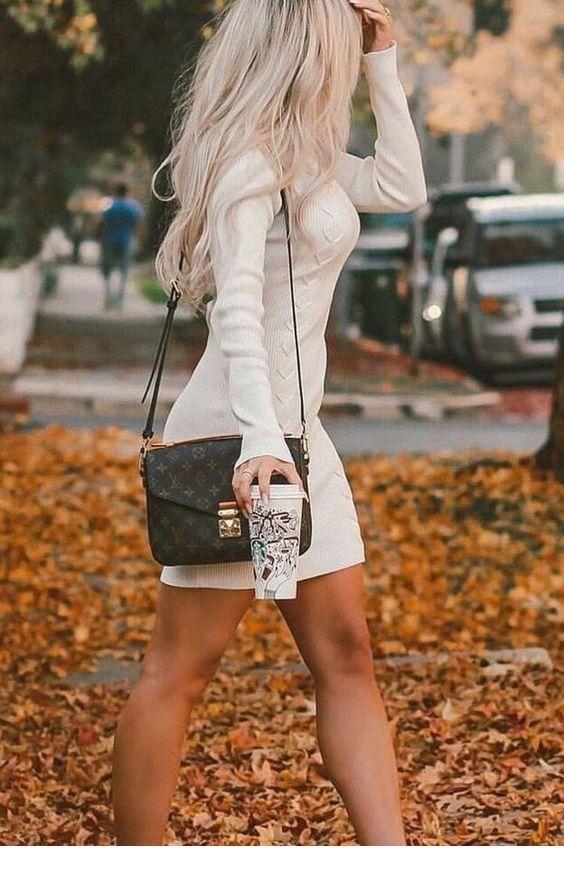 White dress for fall time